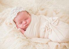 KBG Photography — Cobb County, Georgia Photographer, Atlanta Newborn Photographer, newborn girl, sneak peek, beanbag, cream fur, newborn wrap, newborn bonnet, baby girl nursery, lifestyle newborn