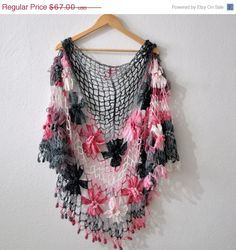 crocheted shawl from handmadespark