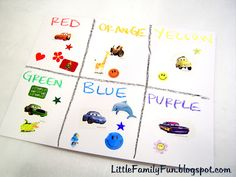Little Family Fun: Color Sticker Matching