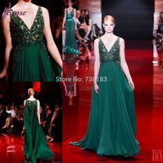 Free Shipping 2014 evening dress Sexy Deep V Neck See Through evening dresses vestido longo vestido de festa Long Evening Dress