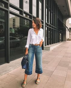 MODERNA SEM SALTO | Blog da Juliana Parisi Blog da Juliana Parisi Amy Jackson, Casual Outfits For Moms, Mom Outfits, Look Cool, Cool Style, My Style, Smart Casual, Casual Looks, Estilo Indie