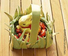 Osterkörbchen aus Eierkarton