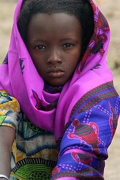Africa | Fula (Peuhl) refugee from Central African Republic in southern Chad. |  © Nate Miller::