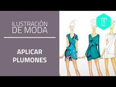 Cómo aplicar plumones en figurines de moda: piel y texturas - YouTube