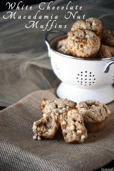 White Chocolate Macadamia Nut Muffins