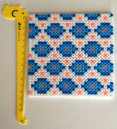 Hama Beads Perler Coaster Set for teapot and cups by HamaBasi