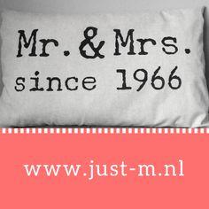 Jubileum kado bruiloft www.just-m.nl