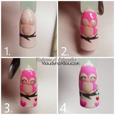 À propos de Nails (MK, matériaux pour les ongles) Nails PRO ™ - À propos de Nails (MK, matériaux pour les ongles) Nails PRO ™ Vous êtes à la bonne adresse pou - Owl Nail Art, Owl Nails, Animal Nail Art, Nail Art Diy, Minion Nails, Disney Nails, Super Nails, Nagel Gel, Nail Tutorials