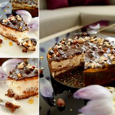 Fitness lískoořechový cheesecake s čokoládou Healthy Desserts, Healthy Recipes, Healthy Detox, Cheesecakes, Deserts, Food And Drink, Low Carb, Yummy Food, Sweets