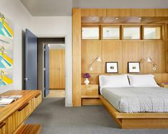 Built-in Bed - Clerestory Windows - Integrated Lighting