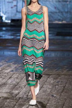 Missoni - Crochet-knit Maxi Dress - Jade - IT