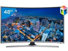 "Smart TV LED Curva 48"" Samsung Full HD Gamer - UN48J6500 Conversor Digital Wi-Fi 4 HDMI 3 USB"