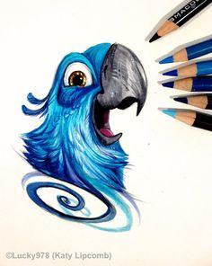 Blu Tattoo Design by Lucky978.deviantart.com on @DeviantArt