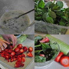 2 strawberry spinach salad recipes