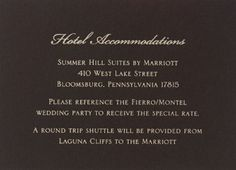 Wedding accommodation card art deco style accommodations card accommodations cards for wedding invitation cream direction card and espresso accommodation card filmwisefo