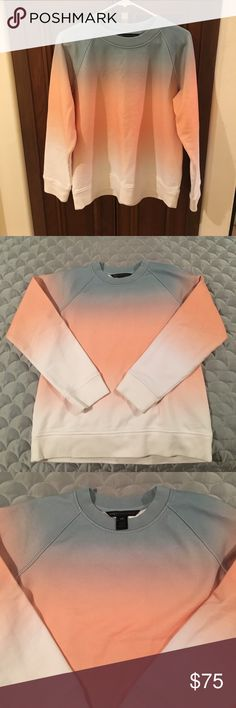 """Marc by Marc Jacob's Ombré Sweatshirt This sunset ombre """"sweat shirt"""" is so beautiful. The colors are perfect for summer. 100% cotton never worn Marc By Marc Jacobs Tops Sweatshirts & Hoodies"""