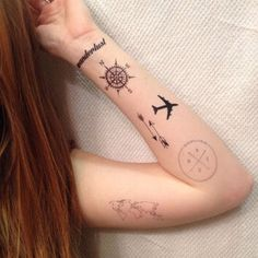 Like how the two arrows are going in different directions. Possibly could be one of my first tattoos.