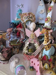 Altered Art Circus Projects by Lisa Kettel. I WANT IT ALL!! LOVE IT!