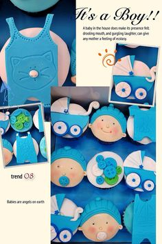 Cute Baby Boy reception cupcakes by Zeina's