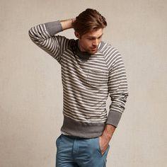 Todd Snyder x Champion Stripe Pocket Sweatshirt