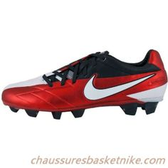 size 40 2ac69 960ff Nike T90 Laser KL Firm Ground Soccer Cleats - Challenge Red with Anthracite  and White.