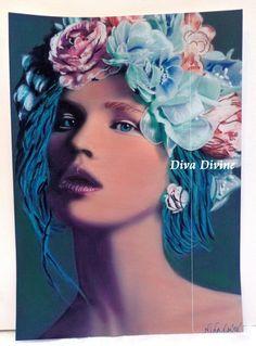 Décoration Bohème   NINA   Pastel Sec par DivaDivinePastel sur Etsy
