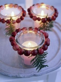 46 Cranberry Christmas Décor Ideas | DigsDigs
