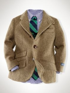 A little man herringbone jacket... oh goodness.
