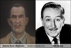 Andrew Ryan (Bioshock) Totally Looks Like Walt Disney