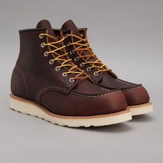Red Wing 6 Inch Moc Toe Boot in Briar Oil Slick