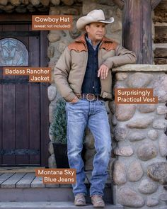 Mens Casual Dress Outfits, Cowboy Outfits, Fashion Outfits, Yellowstone Series, Ted, Ginger Men, Kevin Costner, Cowboy Up, Country Men