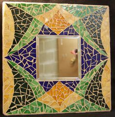 Mosaic Abstract Mirror by AimESmith on Etsy, $100.00