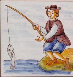 Cerámica Artística Valencia – Azulejos y Gres - Azulejos de oficios - Azulejo decoracion - Pescador