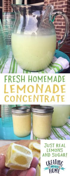Homemade Lemonade Concentrate The best lemonade ever! Lemonade Concentrate Recipe, Good Lemonade Recipe, Honey Lemonade, Healthy Lemonade, Homemade Strawberry Lemonade, Best Lemonade, Homemade Lemonade Recipes, Fresh Squeezed Lemonade, Pineapple Lemonade