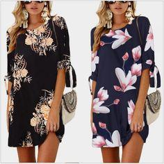 Womens Dresses Summer Casual Loose Plus Size Leopard Print Halter Bandage Boho Beach Mini Tank Dress