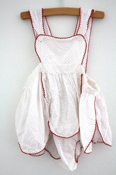 Vintage White and Pink Baby Girl Sunsuit by 1SweetDreamVintage
