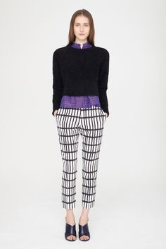 Fall 2014 Ready-to-Wear - Apiece Apart Colour, tone & pattern mash-up - balancing perfectly!