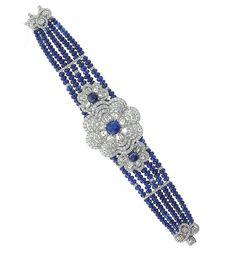 Schreiner Fine Jewellery - Handmade Haute Joaillerie Diamond and Sapphire Bracelet from the 'Maharadscha' Collection.