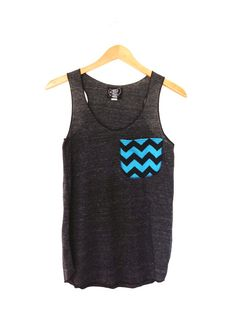 Chevron Pocket Tank Top Womens Eco Friendly Racerback Tanktop in Heather Black Slub Pocket tanktops Chevron Pocket, Girl Fashion, Fashion Outfits, Cute Summer Outfits, Summer Clothes, Cute Shirts, Passion For Fashion, American, Tank Tops