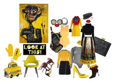 """""""Graffiti -cation"""" by moccanela on Polyvore featuring Alice + Olivia, Gucci, Manolo Blahnik, Dsquared2, Boohoo, Karen Walker, Lime Crime, Moschino, Valentino and Vitra"""