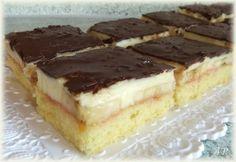 Královské banánové řezy Nutella, Sweet Recipes, Recipies, Cheesecake, Sweets, Menu, Cooking, Ethnic Recipes, Cakes