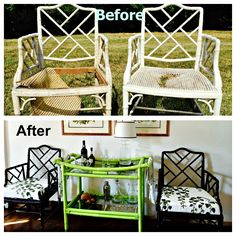 These chairs had seen better days - that is until I got a hold of them.  Check out their story and see their transformation!