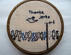 Too funny!  Andie, maybe you can do some embroidery like this :)