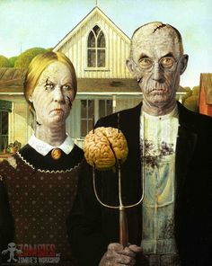 Zombie American Gothic.. me and Claytons Halloween idea @Brittney Matzen @Nicole Andorf