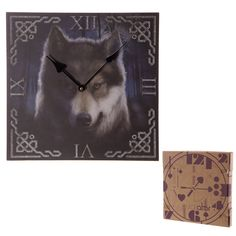 Gothic Fantasy Haunting Wolf Print Wall Clock