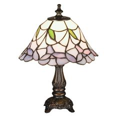 """Found it at Wayfair - Tiffany 11.5"""" H Mini Table Lamp with Bell Shade"""