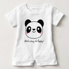 #cute #baby #bodysuits - #Don't Worry Be Happy! Slogan Baby Romper