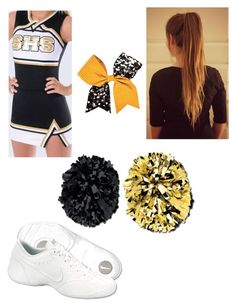 """""""cheerleading"""" by caliyah-17 ❤ liked on Polyvore featuring NIKE and Chassè"""