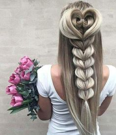 42 Boho Inspired Unique And Creative Wedding Hairstyles 24 Creative & Unique Wedding Hairstyles ❤ Se Unique Wedding Hairstyles, Pretty Hairstyles, Braided Hairstyles, Creative Hairstyles, Hairstyle Ideas, Heart Hairstyles, Everyday Hairstyles, Latest Hairstyles, Mermaid Hairstyles