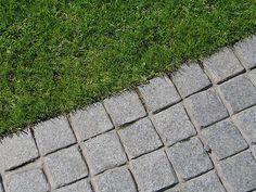 Black basalt setts detail by Andrew Wilson and Gavin McWilliam Front Gardens, Driveways, Landscape, Detail, Black, Design, Sidewalks, Walkways, Black People